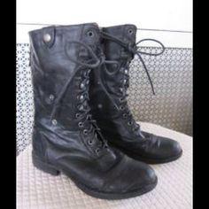 "Selling this ""MADDEN GIRL ZORRBA STEVE MADDEN BLACK COMBAT BOOTS"" in my Poshmark closet! My username is: backbend31. #shopmycloset #poshmark #fashion #shopping #style #forsale #Madden Girl #Boots"