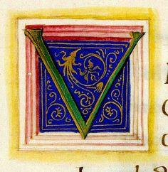 Letter V. gks2030_012a. Iuvenalis. Saturea. Italian c,1460 DKB Denmark | by tony harrison