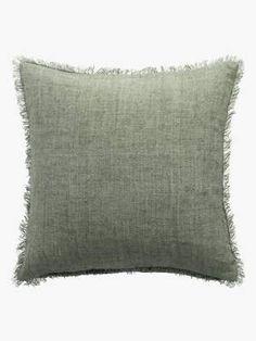 Buy Luxury Handmade Green Linen Cushions Online - Buy Luxury Bed Linen & Homewares Online | L&M Home Luxury Cushions, Cushions On Sofa, Throw Pillows, Bed Sofa, Sydney Metro, Linen Bedding, Bed Linen, Cushions Online, Decorative Cushions