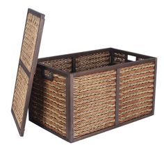 The Large Wicker Storage Trunk takes fashion and function to another level.