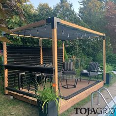 With our Simple DIY Modular Pergola kit system, it has never been easier to have a perfect backyard patio environment in 45 minutes. Backyard Gazebo, Backyard Seating, Backyard Patio Designs, Outdoor Pergola, Pergola Designs, Backyard Projects, Diy Pergola, Outdoor Rooms, Backyard Landscaping