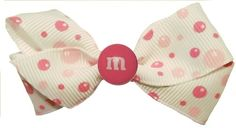These cute M  hair bows for little girls are absolutely gorgeous in Pig Tails!!!! and they are only $1.50 at www.GirlsCrochetHeadbands.com