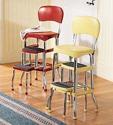 vintage kitchen stool. We have the yellow one!