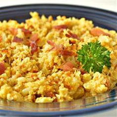 """Scrambled Cauliflower - Low Carb 