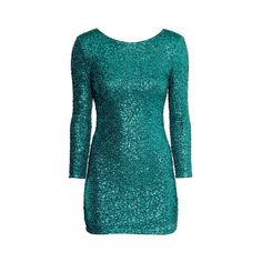 H&M Sequined dress ($7.20) ❤ liked on Polyvore featuring dresses, long sleeve cocktail dresses, blue sequin cocktail dress, sequin dress, long sleeve sequin dress and sequin cocktail dresses