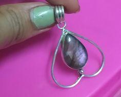 Purple Labradorite Pendant, 925 Sterling Silver Pendant, Heart Style Pendant,Pear Gemstone Pendant, Gift For Her, Dainty Pendent, Designer