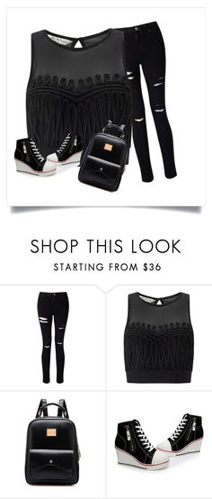 """how to wear black"" by itsofia on Polyvore featuring Miss Selfridge"