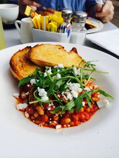 Food gourmet baked beans cafe style