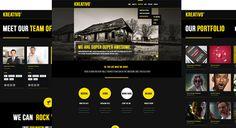 Portfolio / Showcase Wordpress Theme http://herowp.com/portfolio/kreativo-wordpress-responsive-theme/