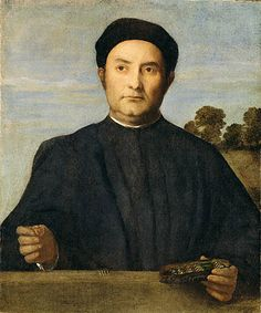 Portrait of a Jeweler, Possibly Giovanni Pietro Crivelli - Lorenzo Lotto. Sold by the Getty Museum, current location?