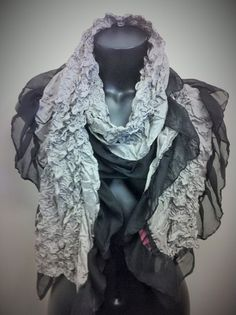 crinkle meets sheer in this new Betsey Johnson scarf (Sisters price $10.99)