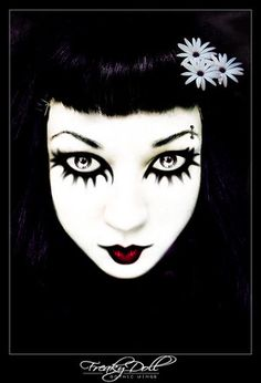 Gothic Makeup re: magenta...kinda freaks me out...but I think that's the point of magenta!