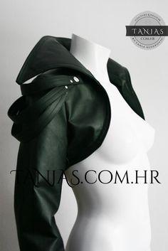 Vanda leatherette bolero jacket by TanjasSerpentinni on Etsy, €95.00