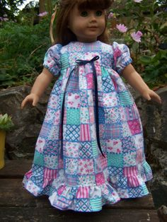 American Girl Doll Clothes  Patchwork by KingsLittleBlessings, $10.00