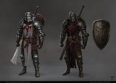 ArtStation - Templar Armor, Michał Sałata