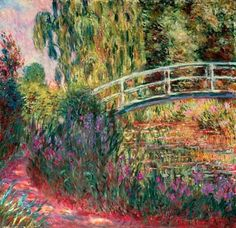 bridge over a pond of water lilies analysis