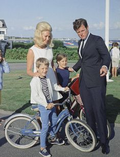 Ted and Joan Kennedy with two of their children, Ted Jr and Kara.
