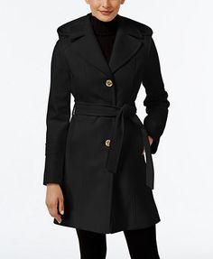 e3f8f505 MICHAEL Michael Kors Wool-Blend Hooded Coat, Only at Macy's & Reviews -  Coats - Women - Macy's