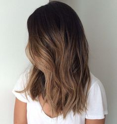 Subtle Light Brown Balayage