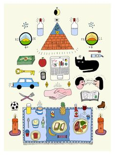 Discover more of the best Everyday, Tom, Edwards, Illustration, and Drawing inspiration on Designspiration Collage Illustration, Photography Illustration, Pattern Illustration, Graphic Illustration, Illustrations Posters, Pink Lady, Poster S, Drawing For Kids, Cute Stickers