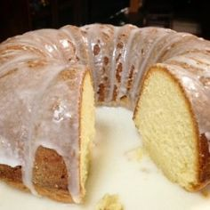 7-Up Cake with Lemon Drizzle: A favorite family dessert for many years!  No other pound cake tastes as good as this one!