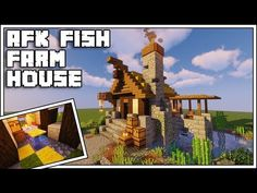 In today's video we're going to build an Minecraft AFK Fish Farm and an awesome fishing hut to house the farm! Check out Docm's Original AFK Fish Farm . Minecraft Building Guide, Minecraft House Tutorials, Minecraft Videos, Minecraft Blueprints, Minecraft Designs, How To Play Minecraft, Minecraft Projects, Minecraft 1, Minecraft Stuff