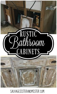 $100 Room Challenge – Rustic Bathroom Cabinets