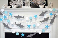 Shark Birthday Party Decorations Shark Banner Shark Room