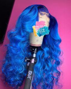 Blue Wigs Lace Hair Lace Frontal Wigs Trendy Wigs Toni Braxton Wigs Al – eggplantral Baddie Hairstyles, Pretty Hairstyles, Curly Hairstyles, Casual Hairstyles, Pixie Haircuts, Medium Hairstyles, Black Hairstyles, Latest Hairstyles, Celebrity Hairstyles