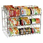 DecoBros Supreme Stackable Can Rack Organizer, Chrome Finish: Stacked cans are difficult to see and not always the most efficient storage method. A can rack would help keep your cans safely in place and allow you to see what you have on hand. Can Storage, Pantry Storage, Pantry Organization, Kitchen Storage, Pantry Ideas, Storage Ideas, Kitchen Ideas, Storage Racks, Smart Storage