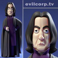 Professor Snape (Alan Rickman) vinyl doll by a Large Evil Corp.
