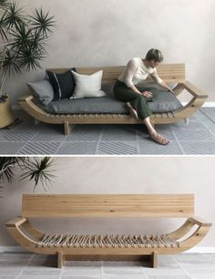 Diy Furniture Couch, Diy Outdoor Furniture, Diy Furniture Projects, Home Decor Furniture, Pallet Furniture, Furniture Plans, Furniture Makeover, Diy Home Decor, Furniture Design