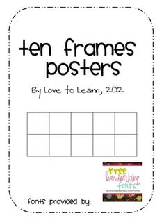 This free download by Love to Learn consists of ten frames posters from zero-twenty in both black and white and color. These are great for decorati...