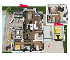 Couleurs Villa vous propose la Villa Florida, moderne, contemporaine cette maison est idéale pour des familles . Le modèle est disponible en 3 versions.