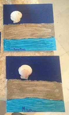 Diy painting sand and sell  κάδρο με άμμο κοχύλι κατασκευή για παιδιά