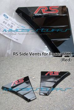 Focus MK2 RS Side Vents (Red)