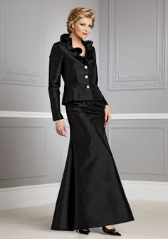 A-line V-neck Floor-length in Taffeta Mother of the Bride Dress