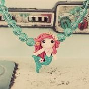 love, love, love  Sparkly Mermaid Necklace