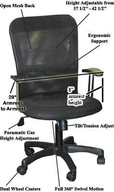 Swivel Office chair - Pin it :-) Follow us :-)) AzOfficechairs.com is your Office chair Gallery ;) CLICK IMAGE TWICE for Pricing and Info :) SEE A LARGER SELECTION of  swivel office chair at  http://azofficechairs.com/?s=swivel+office+chair -  office, office chair, home office chair - Ergonomic Office Chair Value Seat, Mesh « AZofficechairs.com