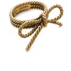 Marc Jacobs Rope Bow Ring (4.235 RUB) ❤ liked on Polyvore featuring jewelry, rings, antique gold, marc jacobs ring, marc jacobs, bow charm, bow ring and marc jacobs jewellery