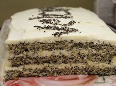 The recipe for poppy seed cake. Quick Recipes, Cake Recipes, Poppy Seed Cake, Coconut Cheesecake, Easy Cake Decorating, Russian Recipes, Food Cakes, How Sweet Eats, Creative Cakes
