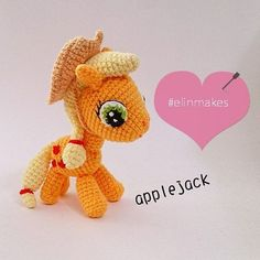 Applejack from My Little Pony! It's a very special order  #amigurumi #crochet #elinmakes #applejack #mylittlepony #handmade #kawaii #cute #pony #cartoon