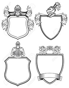 coat of arms: Knight shields and crests Illustration