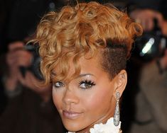 Black Female Mohawk Haircut | ... curls hang down her forehead, in this hairstyle for black women