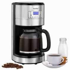 VonShef Programmable Digital Coffee Maker with Measuring Spoon- 12 Cup Capacity -- Find out more about the great product at the image link.