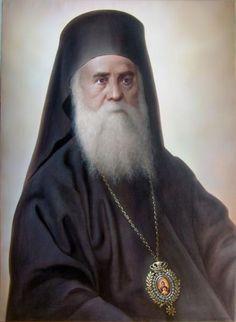 Saint Nektarios of Aegina Church Icon, Christian Religions, Byzantine Icons, Orthodox Christianity, Orthodox Icons, Religious Art, Christian Faith, Saints, Face
