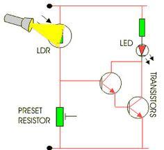 Light Dependent Resistor #LDR Circuit.