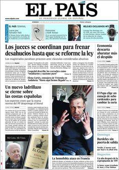 Los Titulares y Portadas de Noticias Destacadas Españolas del 14 de Abril de 2013 del Diario El País ¿Que le parecio esta Portada de este Diario Español?
