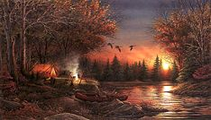 Terry Redlin | Evening Solitude