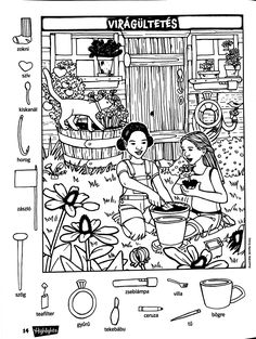 Hidden Picture Games, Hidden Picture Puzzles, Puzzles For Kids, Worksheets For Kids, Colouring Pages, Coloring Books, Hidden Pictures Printables, Ivan Cruz, Highlights Hidden Pictures